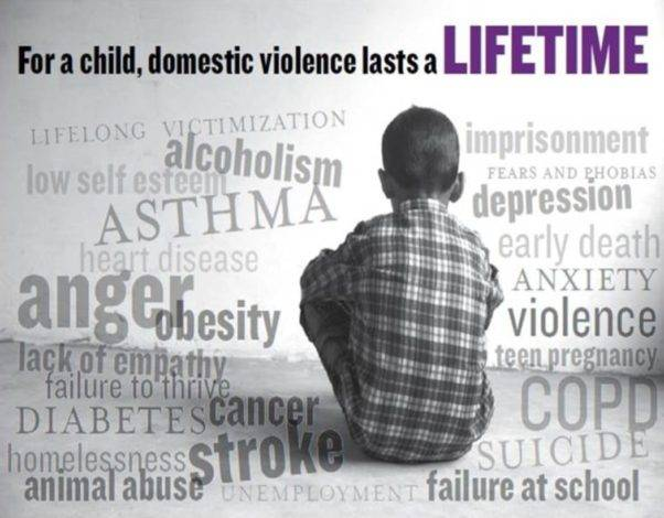 Silently witnessing domestic violence